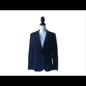 Rag & Bone Navy Blue W/ Black Satin Blazer 10
